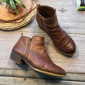 Lucky brand distressed leather Basel Bootie sz 10